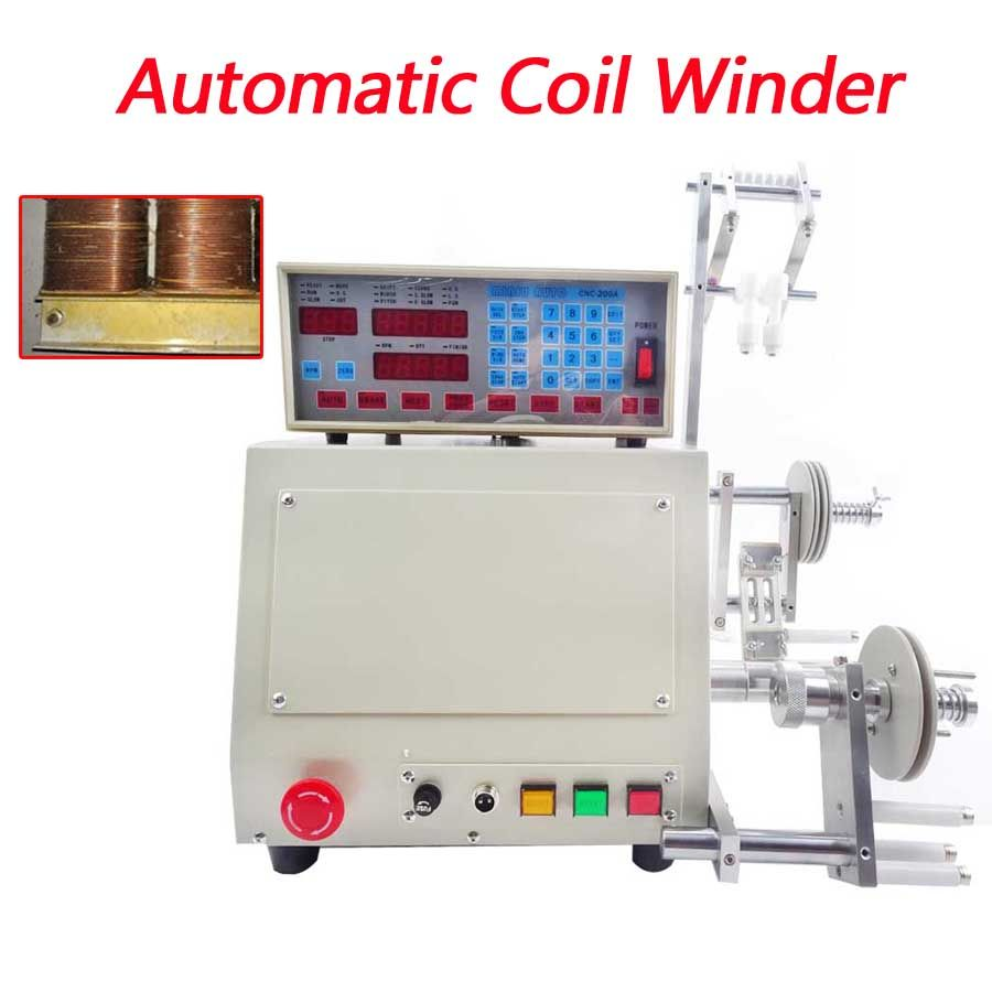 High quality New computer C automatic Coil winder winding machine CNC manual 0.03-1.2mm copper hand wire coil winding 220V
