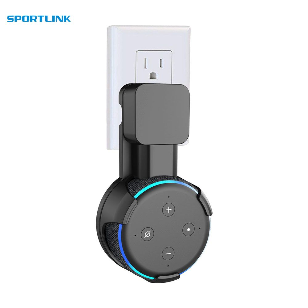 Outlet Wall Mount Hanger Holder Stand Space Saving for Amazon Alexa Echo Dot 3nd Generation and Other Round Voice Assistants