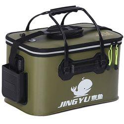 Kualitas Tinggi 5 Warna/30/35/40/45/50 Cm Kolam EVA Ember Lipat Ember Portabel camping Hiking Ember dengan Pegangan Tas Pancing