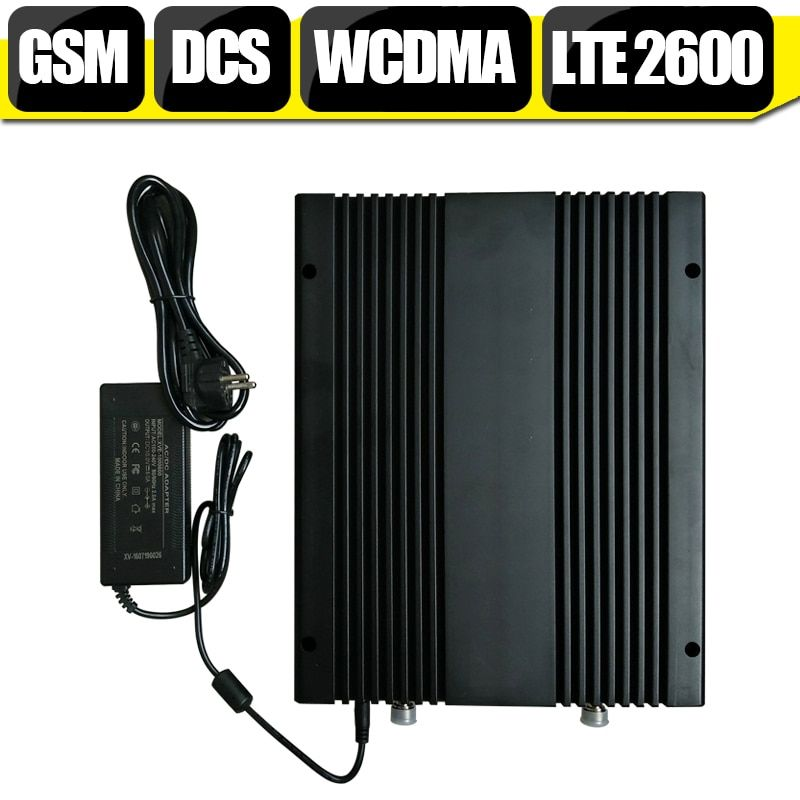 2G 3G 4G Quadruple Band GSM 900 DCS 1800 WCDMA 2100 LTE 2600 mhz Cell Phone Signal Booster Cellular Repeater Amplifier