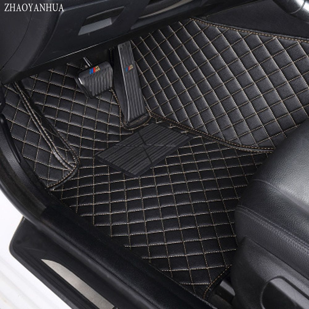 ZHAOYANHUA car floor mats made for Toyota Highlander Land Cruiser 200 5D full cover car styling rugs carpet case liners (2007-)