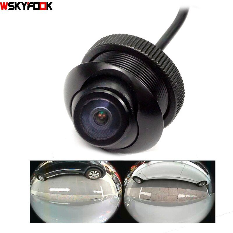 600L CCD 180 degrés caméra Fisheye grand angle Arrière vue latérale caméra de recul 360 rotato vision nocturne imperméable à l'eau