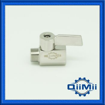 Inoxydable Mini Ball Valve 1/2, 1/4