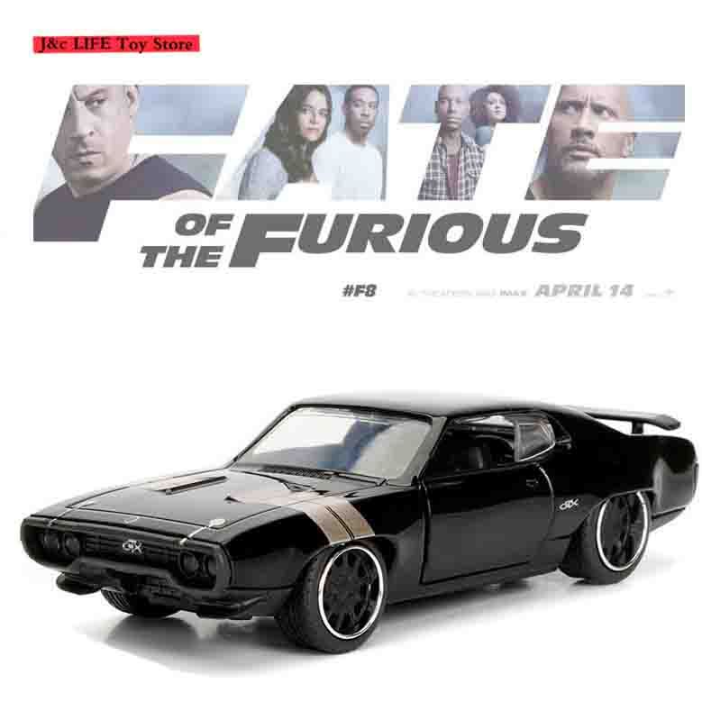 1:32 Fast and Furious F8 DOM'S 1972 Plymouth GTX Car Model Metal Alloy Diecasts & Toy Vehicles Car Toy Car Toys for Children