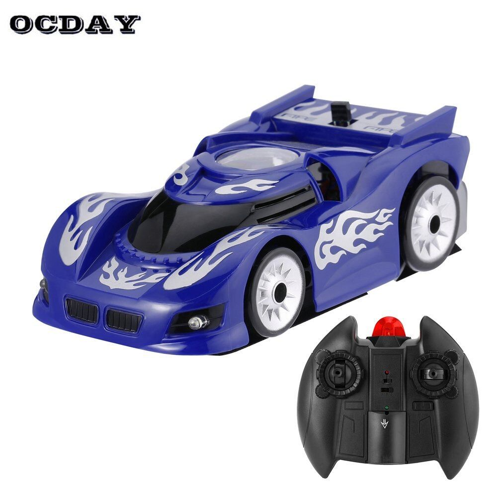 Wall Racing Ceiling Glass Climbing coche RC Car <font><b>Zero</b></font> Gravity Floor Climber Mini RC Racer Remote Control crawler Toy For Children