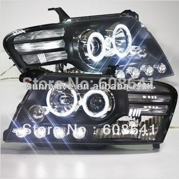2000-2010 year Pajero Montero V73 V75 V76 V77 V78 LED Angel Eyes Head Light with Bi Xenon Projector Lens