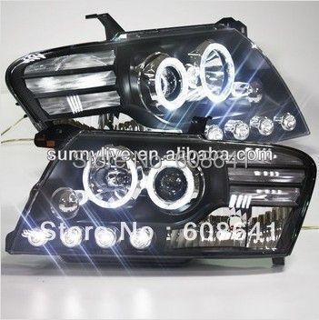 2000-2010 year Pajero Montero V73 V75 V76 V77 V78 LED Angel Eyes Head Light with Bi Xenon Projector Lens