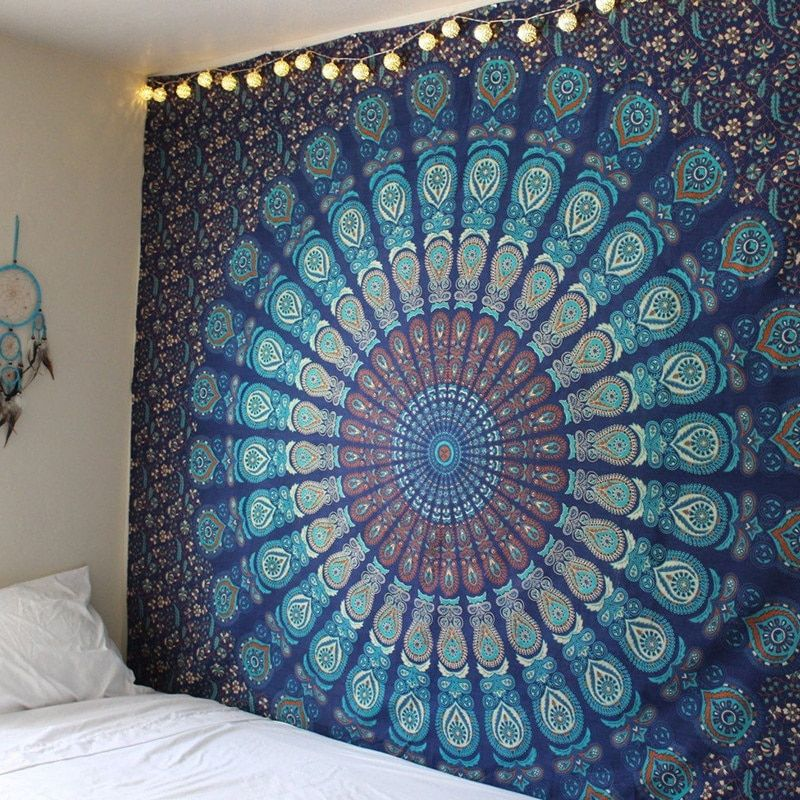 New Indian Mandala Tapestry Hippie Home Decorative Wall Hanging Bohemia <font><b>Beach</b></font> Mat Yoga Mat Bedspread Table Cloth 210x148CM