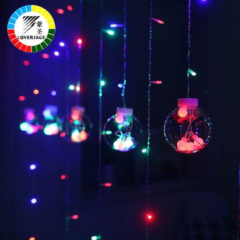 Coversage 3 M Arbre De Noël Décoratif Rideau Guirlandes De Noël Fée Guirlande Lumineuse Guirlande Lumineuse Led Navidad Vacances En Plein Air