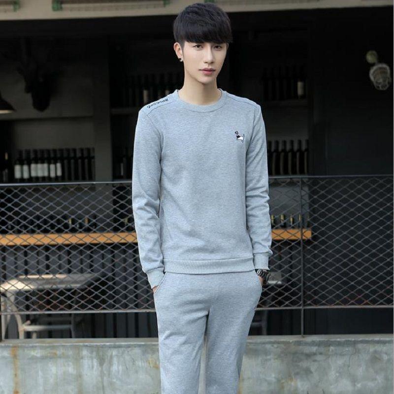 2017, automne et d'hiver, le nouveau style, l'ajout de la peluche, la jeunesse loisirs costume, les hommes de hoodie costume homme.
