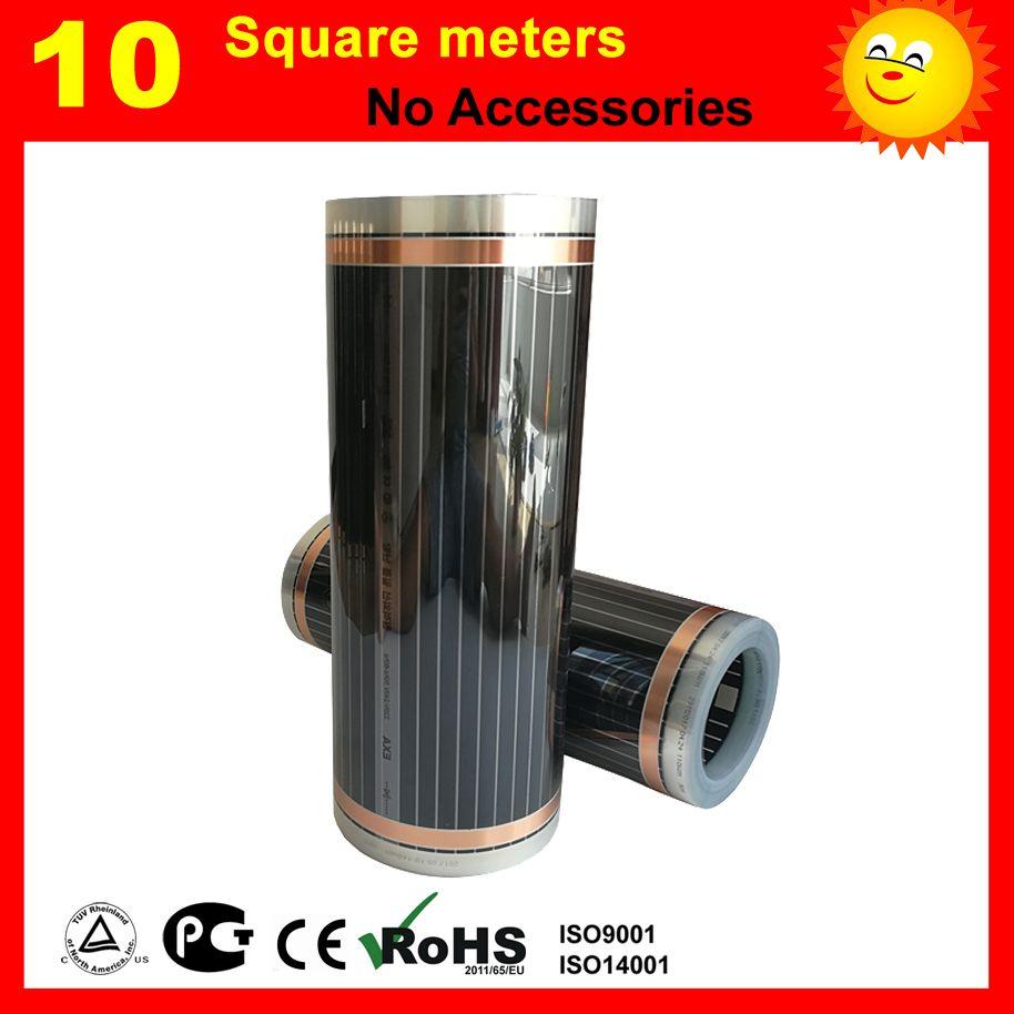 10 quadratmetern fernen infrarot heizfolie für fußbodenheizung von bettzimmer