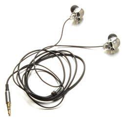 Silver Skull Heads 3.5mm Port Metal Headset Earphones For iPads iPod Phone MP3 P0.11