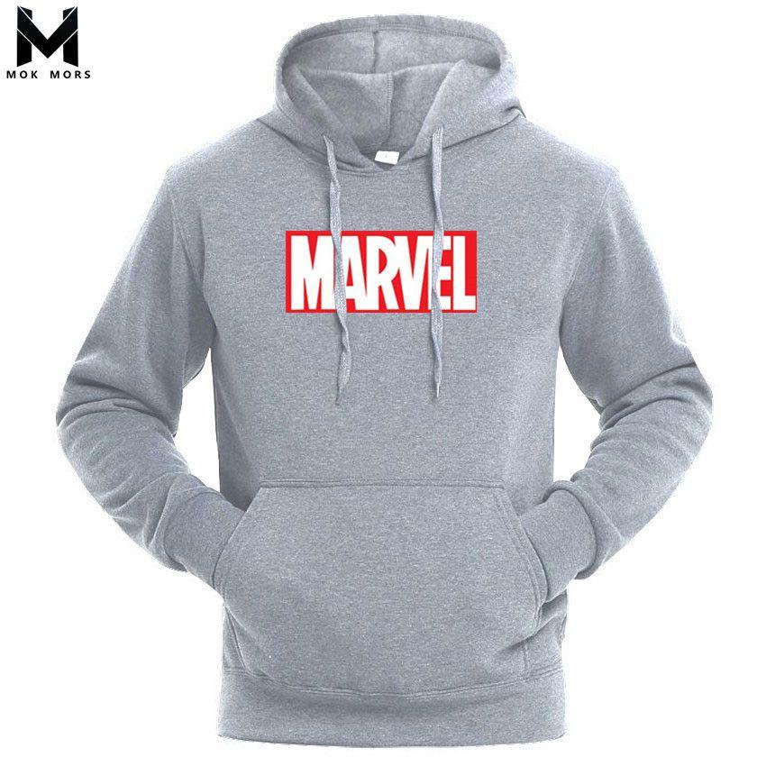 2018 Nuevo Superhéroe Marvel Marvel Algodón Para Hombre Sudaderas Con Capucha Sudaderas Moda Fresca Impreso Sudaderas Hombres Arropa El Envío Libre