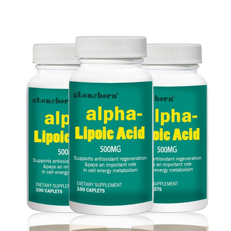 Big deal Freies verschiffen universal antioxidans 3 Flaschen Alpha-liponsäure 500mg 100 stücke Insgesamt 300 stücke