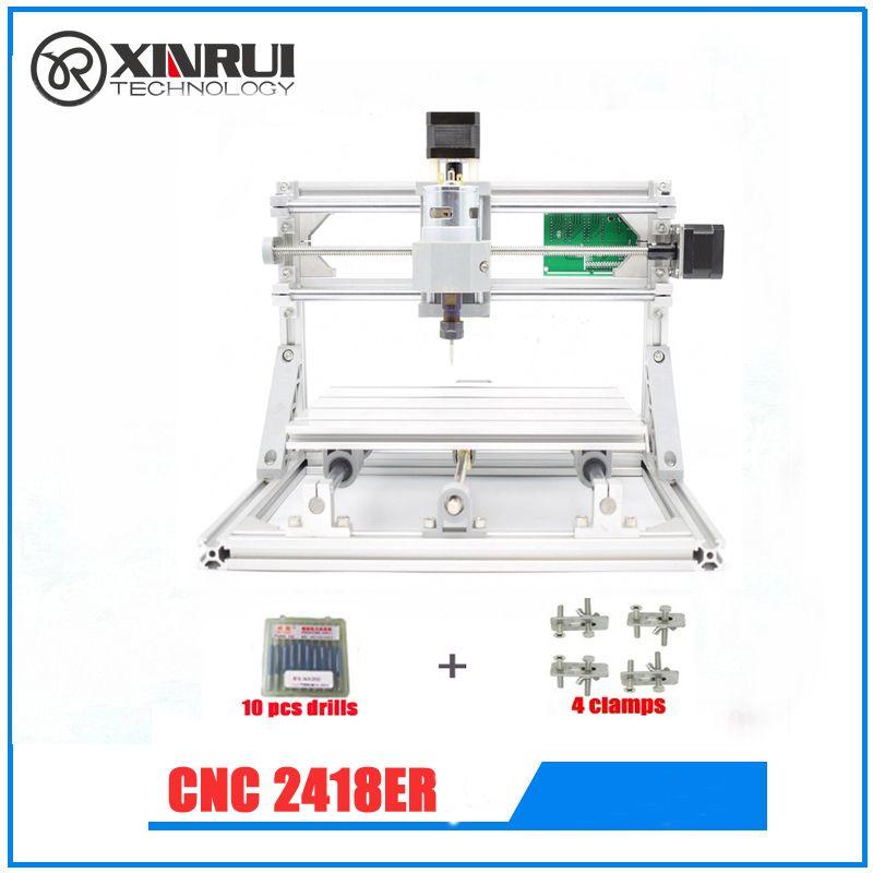 CNC 2418+ER11 spindle GRBL DIY CNC laser machine,work area 24x18x4.5cm,3 Axis Pcb Milling Machine, Wood Router,Pvc Mill Engraver