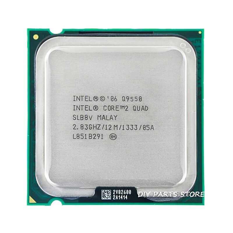 4 cœurs INTEL core 2 Quad Q9550 Socket LGA 775 CPU INTEL Q9550 processeur 2.8G hz/12 M/1333 GHz)