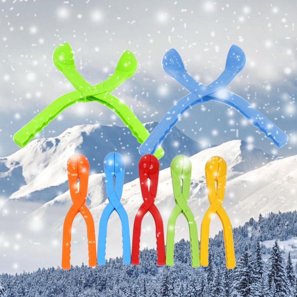 1 stück 36 cm Große Winter Schneeball Maker Sand Form Werkzeug Schneeball Kampf Schnee Ball Scoop Maker Clip Outdoor Sport spielzeug Zufällige Farbe