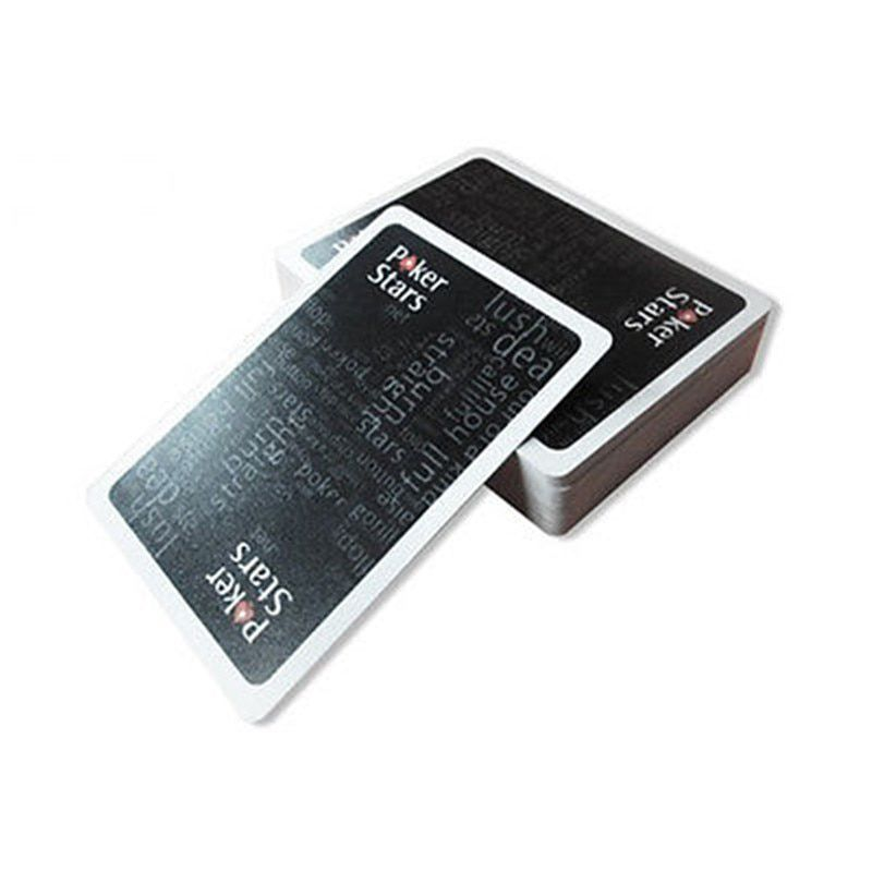 Nouveau Baccarat Texas Hold'em cartes à jouer en plastique étanche glaçage Poker carte Pokerstar jeu de société 2.48*3.46 pouces