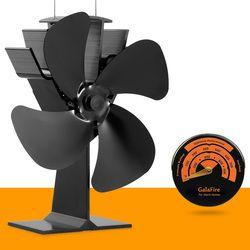 Magnétique Poêle Thermomètre avec De Chaleur Alimenté Cuisinière Ventilateur Éco Poêle À Bois Fan