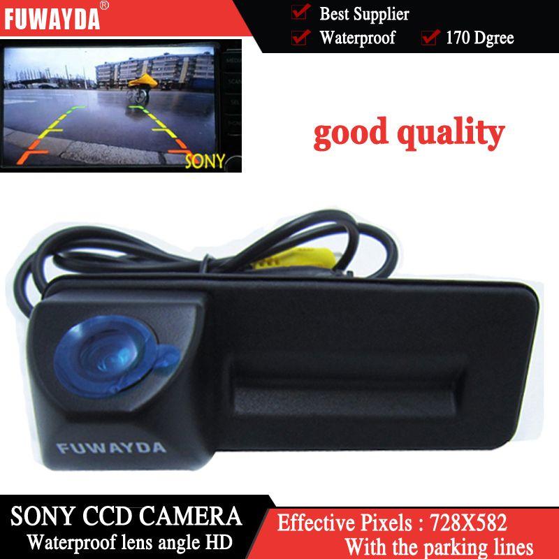 FUWAYDA sony ccd For skoda octavia fabia audi A1 car Rear view camera Car parking camera Trunk handle camera Night vision
