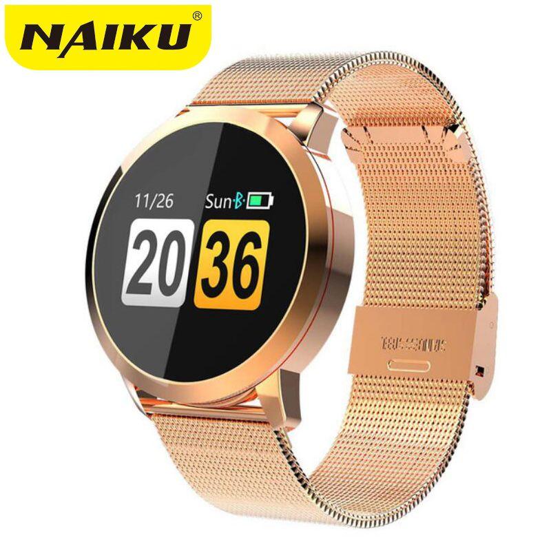 NAIKU Q8 Smart Watch OLED Color Screen men Fashion Fitness Tracker Heart Rate Blood Pressure Oxygen Smartwatch