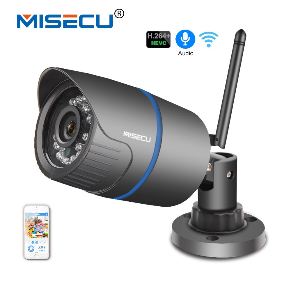MISECU Audio 2.8mm H.264+ 1080P/960P/720P IP WIFI camera Sony CCTV P2P Email Alert RTSP FTP night vision waterproof IP security