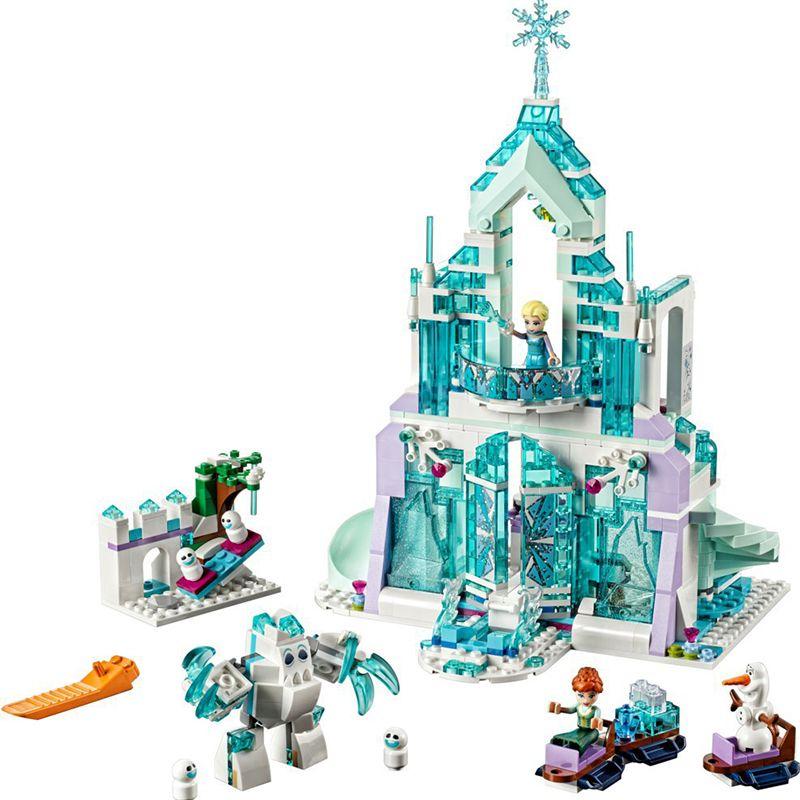 Lepin 731PCS Ice World Series Elsa Magic Ice Castle Set Blocks Educational Brick Toy Girl Friends with 41148 Birthday Gift