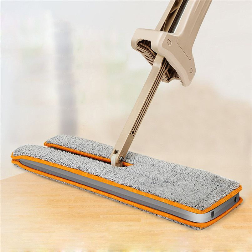 11.11 Useful Double-Side Flat Mop Hands-Free Washable Mop Home Cleaning Tool Lazy mop