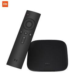 Origine Xiao mi mi boîte tv BOÎTE 3 ANDROID 6.0 2g/8g smart 4 K quad core HDR Film Set-top Box Multi-langue Netflix YouTube Google