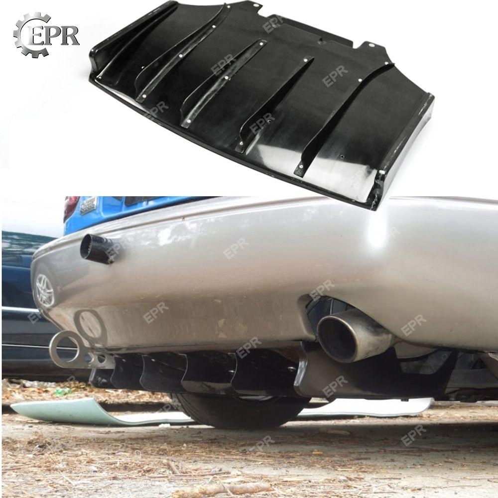Für Mazda MX5 NA Roadster Miata JS Stil FRP Hinten Unter Diffusor (Fin) tuning Teil Trim Für MX5 NA Miata Glas Fiber JS Diffusor