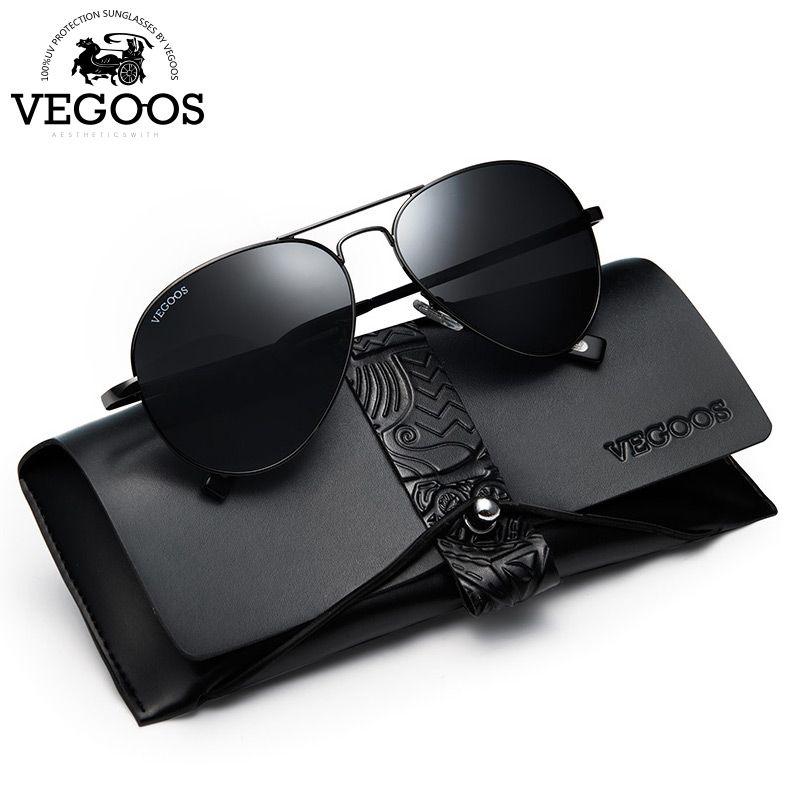 VEGOOS Sunglasses Men Polarized UV400 Protection Aviation Sun Glasses for Male Pilot Sunglasses Oculos De Sol Masculino 2018 New