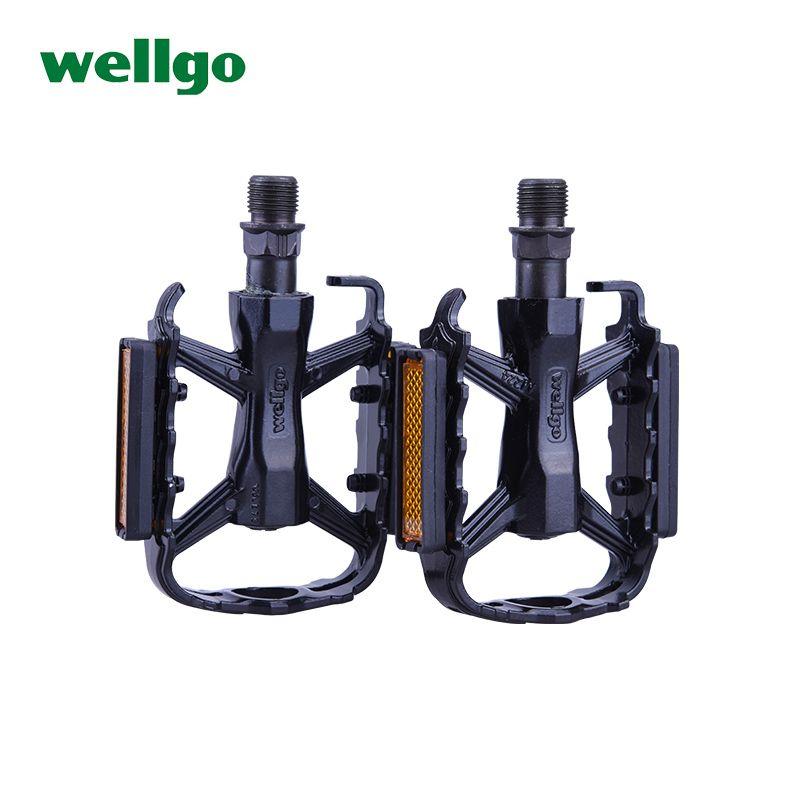 Wellgo fahrradpedal mountainbike pedal allgemeinen aluminiumlegierung lager 2 du fußpedal fahrradzubehör
