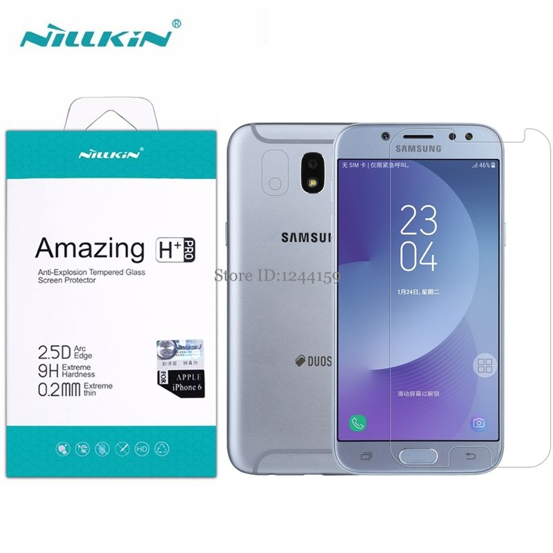 Glass for Samsung Galaxy J7 2017 Nillkin 0.2mm H+ Pro 2.5D Tempered Glass Protective Film For Samsung J7 2017 / J7 Pro /J730