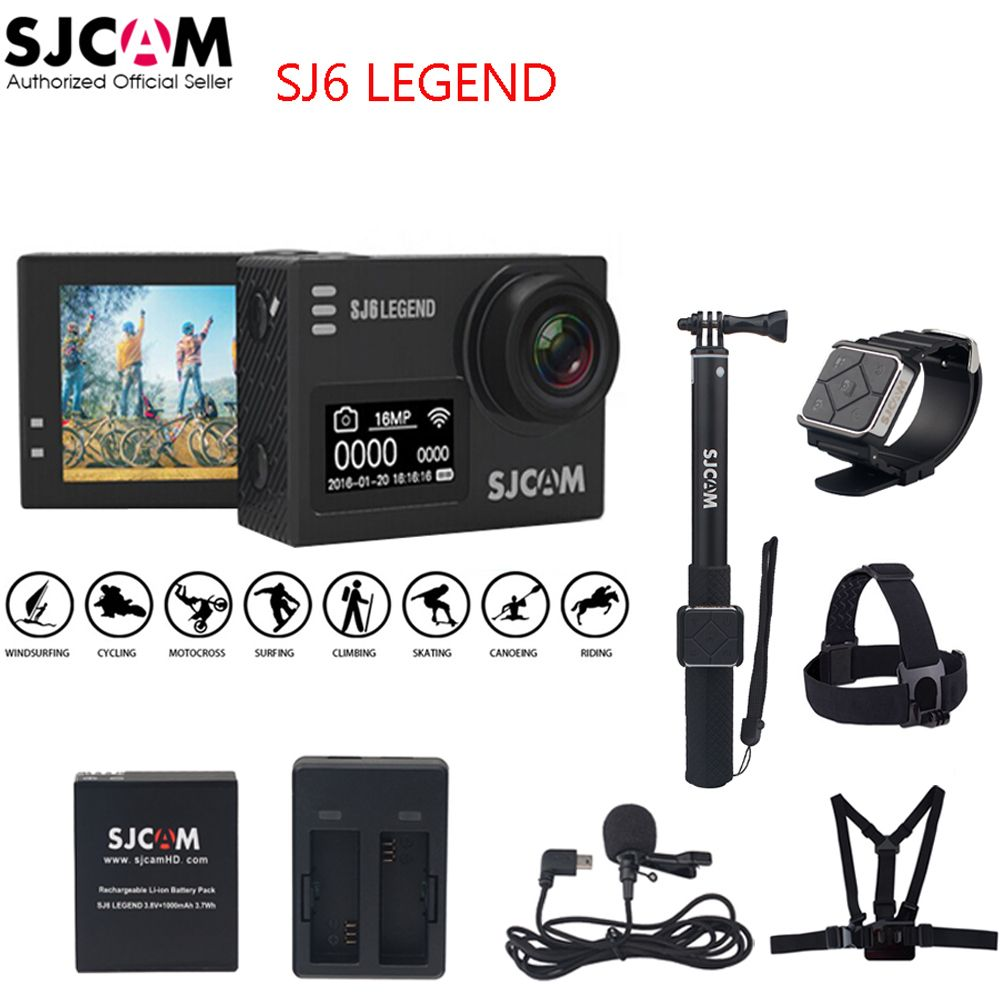 100% Original SJCAM SJ6 LEGEND 4K 24fps 2.0 Touch Screen Remote Ultra HD Notavek 96660 30M Waterproof Sports Action Camera DVR