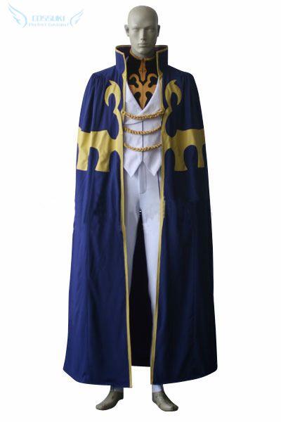 Newest High Quality Code Geass Suzaku Kururugi Uniform Cosplay Costume ,Perfect Custom For You !