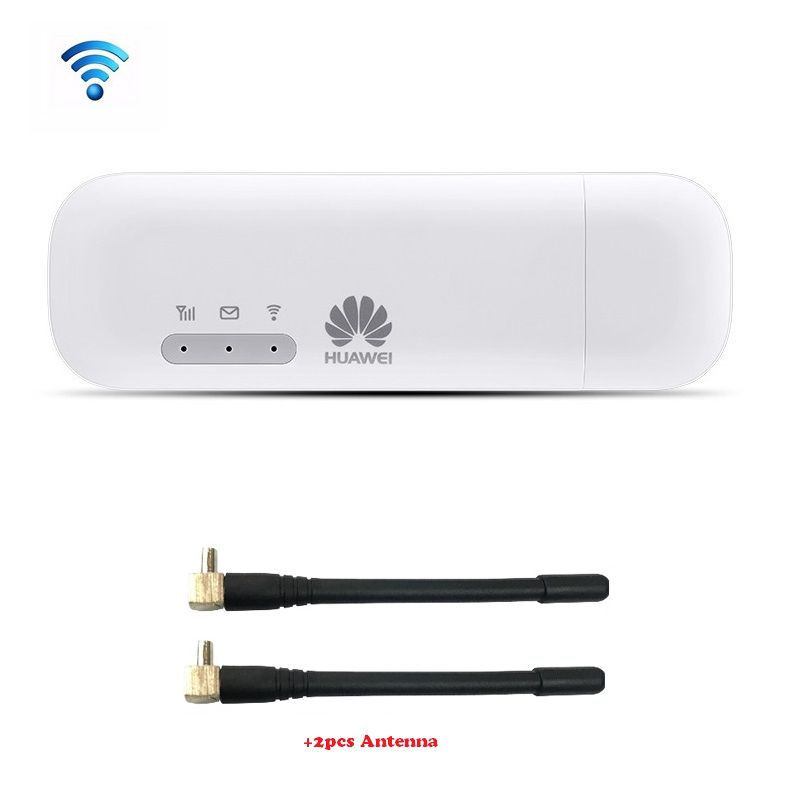 Huawei E8372 E8372h-153 HUAWEI LOGO with 2pcs Antenna 150M LTE USB Wingle LTE 4G USB WiFi Modem Unlocked