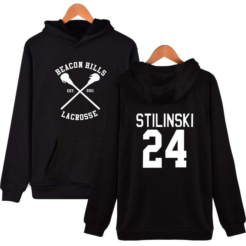 Teen Wolf BEACON HILLS LACROSSE cosplay Hoodie Stilinski Dunbar Cap Sweatshirt plus size pullover mens Hoodies and Sweatshirts