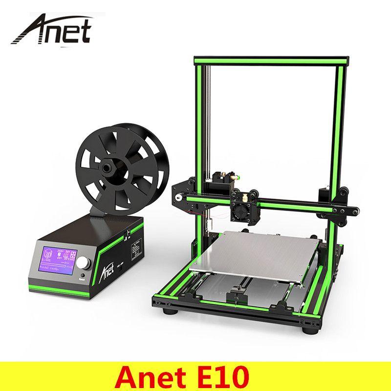 Original Anet E10 3D Printer Set DIY 220*270*300mm 0.4mm Nozzle LCD Screen 3D Desktop Printing Aluminum Frame PLA Plastic Gift