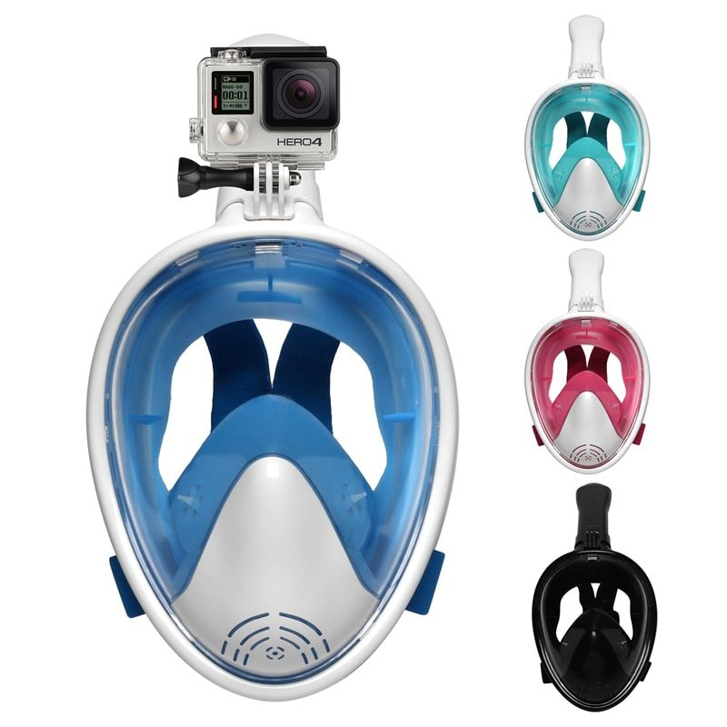 Scuba diving Mask Scuba Full Face Snorkeling Mask Underwater Anti Fog Snorkeling mask for Swimming spearfishing scuba diving
