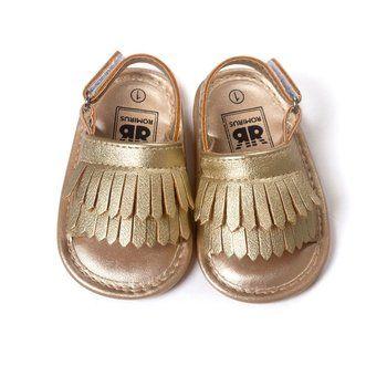 Hot Infant Baby Girl Shoes Leather Tassel Soft Bottom Crib Anti-slip Summer Shoes S01