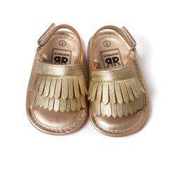 Panas Bayi Bayi Gadis Sepatu Kulit Rumbai Lembut Bawah Bayi Anti-Slip Musim Panas Sepatu S01