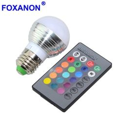 1 unids regulable 16 colores decoración de la Navidad luz de la noche de la atmósfera E27 E14 5 W 85 V-265 V llevó la lámpara del proyector del bulbo + IR