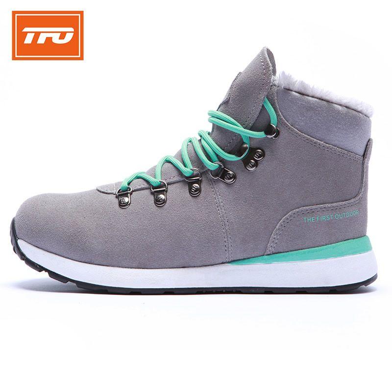 TFO bota zapatos Zapatos Mujeres Senderismo Acampar Al Aire Libre Botas de Nieve Caliente antideslizante Botas de Invierno térmica escalada de montaña