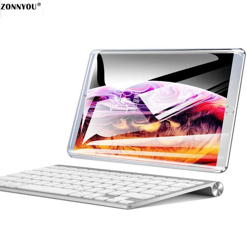 Nouveau système 10.1 pouces tablette PC 3G/4G appel téléphonique Android 8.0 Wi-Fi Bluetooth 4 GB/64 GB Octa Core double SIM Support GPS PC + clavier