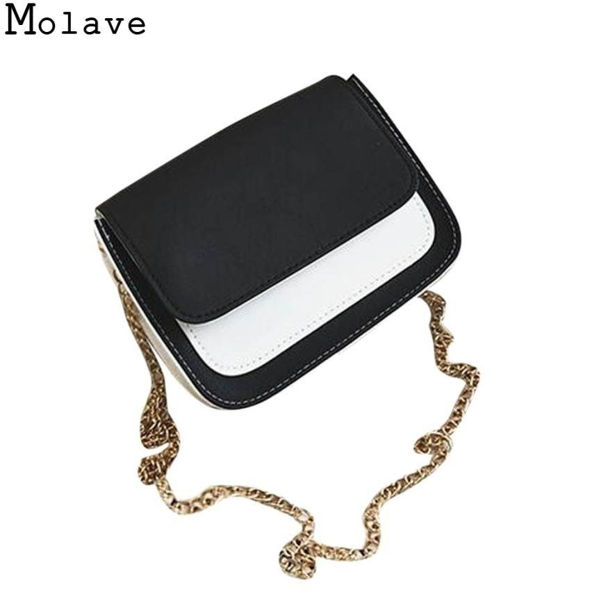 Molave Fashion Women Leather Chain Crossbody Shoulder Bag Phone Bag women's bag female 2017Nov17