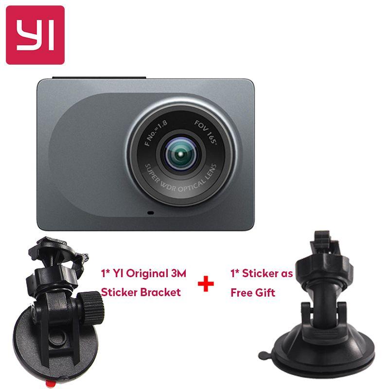 [International Edition] Xiaomi YI Smart Car DVR 165 Degree 2.7 Dash Camera 1080P 60fps ADAS Safe Reminder WIFI Dashcam