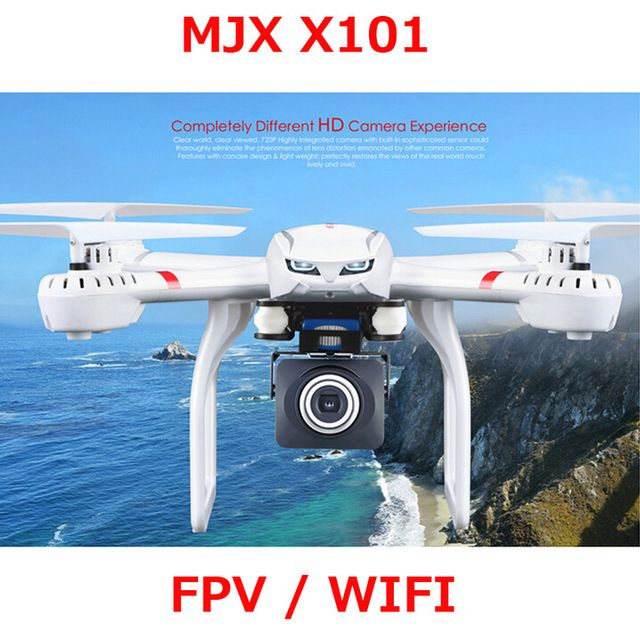 En Stock!! MJX X101 Mise À Jour Version X101S Quadcopter 2.4g RC drone/drone rc hélicoptère gyroscopique à 6 axes peut ajouter c4018 caméra (FPV)