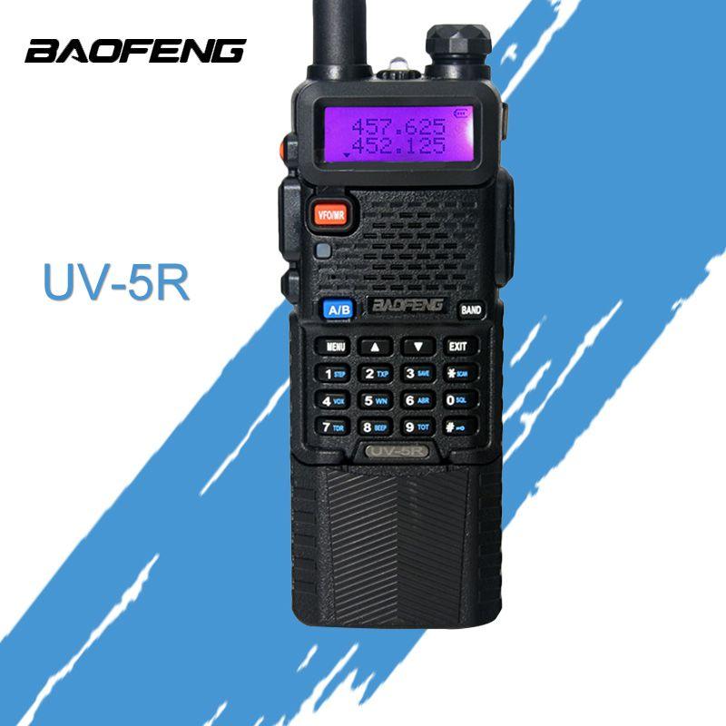 Baofeng UV 5R talkie-walkie 3800 mah batterie version Radio Bi-bande UV-5R Radio Bidirectionnelle Talkie-walkie portable