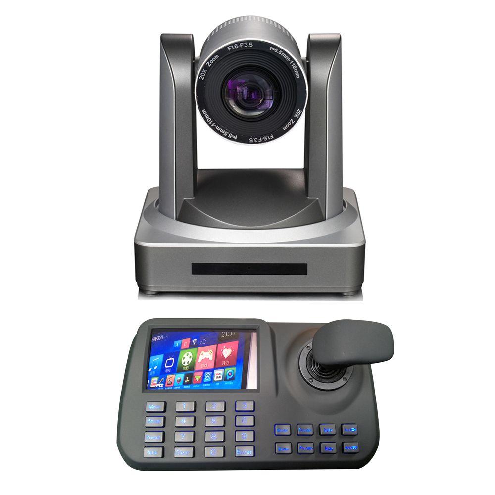 2MP 1080p60fps network IP professional video camera hdmi 3g-sdi 20x optical zoom plus ptz onvif keyboard controller