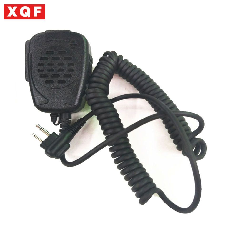 XQF Walkie Talkie 2 Pin Handheld Speaker Microphone For Motorola Two Way Radio Radios GP68 GP88 GP88S GP3688 A8 A6 A10 A12